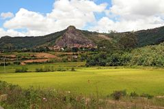 Malagasy rural landscape Royalty Free Stock Photo