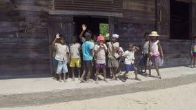 Malagasy school children in classroom stock footage