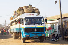 Malagasy traditional transport Stock Images