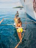 Malagasy Vendors in Nosy Be Island, Madagascar Stock Image