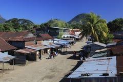 Malagasy village in the Sambava area Royalty Free Stock Image