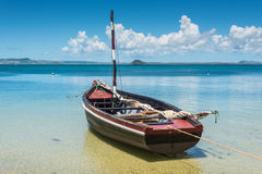 Malagasy wooden sail boat Stock Image