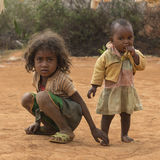 Malagasy young sisters travel portrait Royalty Free Stock Photos