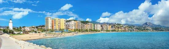 Malagueta Beach in Malaga. Andalusia, Costa del Sol, Spain royalty free stock photo