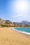 Malagueta Beach in Malaga Royalty Free Stock Photos