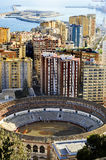 Malagueta Bullring in Malaga, Spain Stock Photo