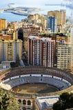 Malagueta Bullring in Malaga, Spain Stock Photo