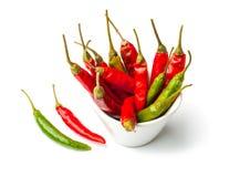 Malagueta picante vermelha e verde Foto de Stock
