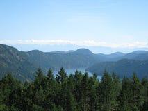 Malahat盆地,不列颠哥伦比亚省 库存照片