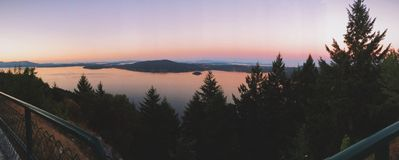 Malahat Summit Summer Sunset Royalty Free Stock Photo
