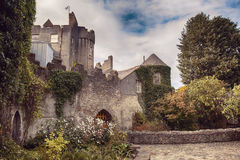 Malahide castle by autumn Stock Images