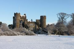 Malahide Castle Snow Covered. A snow covered Malahide castle Dublin Royalty Free Stock Image