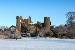 Malahide Castle Snowscape Stock Photo