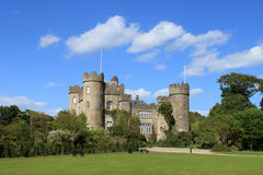 Malahide Castle View. A view of Malahide Castle showing three turrets Stock Photos