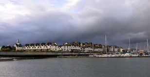 Malahide harbor. Malahide - a picturesque coastal suburban town Royalty Free Stock Images