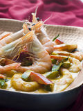 Malai King Prawn Curry Stock Photography
