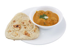 Malai kofta with naan Stock Images