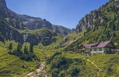 Malaiesti dolina, Bucegi góry, Rumunia Obraz Stock