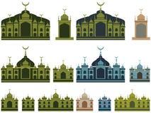 Malajiska färg för islambyggnadsuppsättning royaltyfri illustrationer