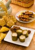 Malajiska lemang för harirayafoods, fokus på lemang Royaltyfri Fotografi