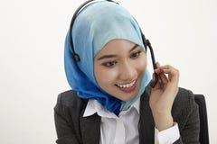 Malajiska receptionist, royaltyfri foto