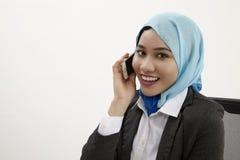 Malajski biznesowej kobiety opowiadać Obrazy Stock