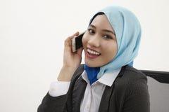 Malajski biznesowej kobiety opowiadać Obraz Stock