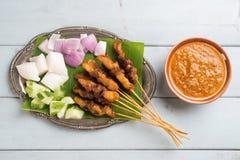 Malajski kurczak satay zdjęcia royalty free