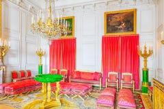 Malakitsalongapartaments i den storslagna Trianon Chateau de V Royaltyfria Foton