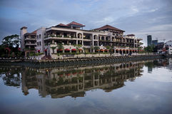 Malakka-Flussbank-Gebäude Lizenzfreie Stockfotos