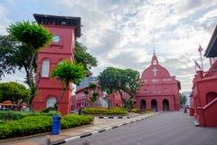 MALAKKA, MALAYSIA - 29. FEBRUAR: Morgenansicht von Christus-Kirche a Lizenzfreies Stockfoto