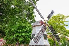 MALAKKA, MALAYSIA - 16. JULI 2016: Windmühle in der Jonker-Straße ist die Mittestraße von Chinatown in Malakka Lizenzfreies Stockfoto