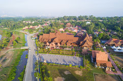 MALAKKA, MALAYSIA - 9. MÄRZ 2014: Arial-Ansicht von Hang Tuah-museu Stockbilder