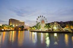 MALAKKA, MALAYSIA - 23. MÄRZ: Malakka-Auge auf den Banken von Melaka Lizenzfreie Stockbilder
