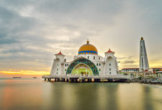 Malakka-Straßen-Moschee Lizenzfreie Stockbilder
