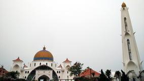 Malakka-Straßen-Moschee lizenzfreie stockfotos
