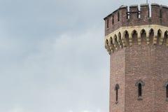 Malakofftoren in Keulen met hemel als achtergrondruimte stock foto's