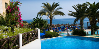 Malama Feiertags-Dorf, Protaras, Zypern Stockfoto