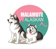 Malamute Van Alaska Royalty-vrije Illustratie