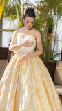 Malan Breton Spring 2016 Bridal collection Royalty Free Stock Photo