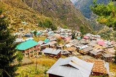 Malana村庄,喜马偕尔省,印度 免版税库存照片