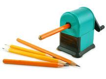 malande att bearbeta med maskin manuell mekanisk blyertspennasharpe Royaltyfri Bild