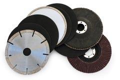 Malande disketter för slipande klaff Fotografering för Bildbyråer