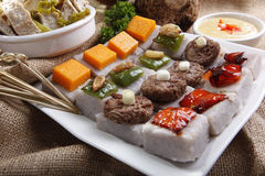 Malanga coco, Ocumo or Taro Stock Image