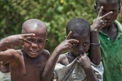 MALANJE/ANGOLA - 10. März 2018 - Porträt von afrikanischen Jungen in der Provinz von Malanje Angola stockfotos
