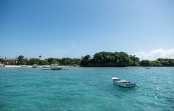 MALAPASCUA, FILIPINAS - 9 DE FEVEREIRO DE 2018: Praia em Malapascua fotografia de stock royalty free