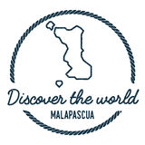 Malapascua Island Map Outline. Vintage Discover. Stock Images