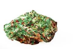 Malaquita en la roca fotos de archivo