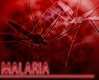 Malaria Abstract concept digital illustration Stock Images