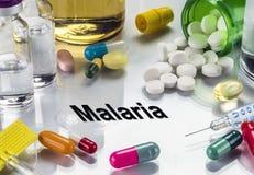 Malaria, Geneesmiddelen als Concept Gewone Behandeling royalty-vrije stock fotografie